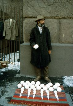 David Hammons, Bliz-aard Ball Sale, 1983  Outside Cooper Union
