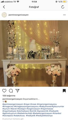 Nişan Metal Work Table, Wedding Centerpieces, Wedding Decorations, Dessert Buffet Table, Debut Ideas, Sweet Station, Wedding Makeup, Holiday Parties, Party Planning