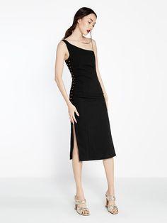 Jasmine One Shoulder Grommet Dress