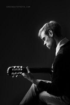 Guitar recital poster portrait session