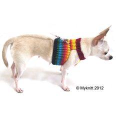 dog harnesses #handmade #rainbow #pet #chihuahua  #knit #crochet #diy #craft #fashion #spring #cute #dog