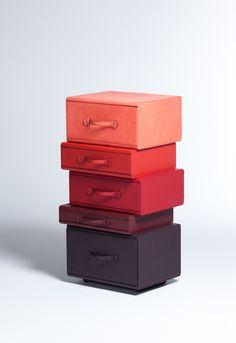 Pile of leather briefcases, Maarten de Ceulaer,2013