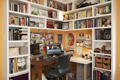 The Mini Library Office from New Apartment Therapy Book | Apartment ...