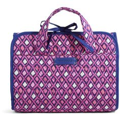 Vera Bradley Hanging Travel Organizer in Katalina Pink Diamonds ($34) ❤ liked on Polyvore featuring accessories, cosmetic cases and katalina pink diamonds
