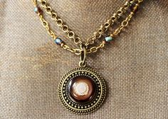 NEW Vintage 'Root Beer' Bakelite Necklace Hand Beaded by veryDonna