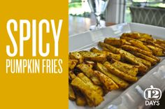 Spicy Pumpkin Fries by my guest Carly | Aapplemint
