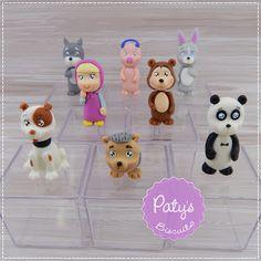 Caixinhas Decoradas Masha e o Urso - Lembrancinhas de festa infantil - Paty's Biscuit