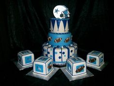 Dallas Cowboys Baby,Texas Cowboys,Cowboy Baby Shower,Football Cakes,Boy  Cakes