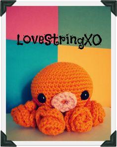 Orange Octopus Amigurumi Crochet Doll / Handmade Gift for Valentine / Couples Gift. $28.00, via Etsy.