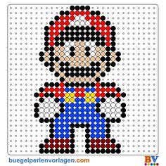 Bügelperlen Vorlage Mario