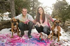 Engagement Session with Dogs - Las Vegas Engagement Photography - Mike L. Photography
