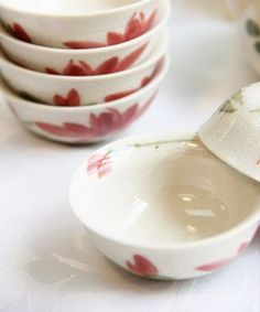 Lotus flower hand-painted bone china tea set from ZWZHome
