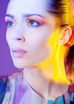 Psychedelic Beauty Looks : Allure March 2012