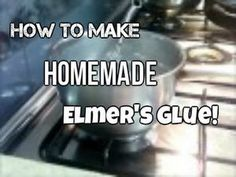 How to make: Homemade Elmer's Glue - YouTube
