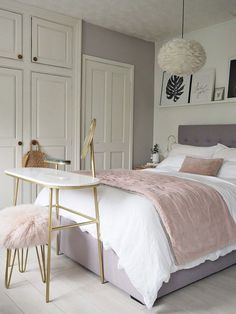 43 dusty pink bedroom walls that can be pretty and peaceful 7 – Home Dekor Dusty Pink Bedroom, Pink Bedroom Walls, Pink Bedroom Decor, Small Room Bedroom, Bed Room, Master Bedroom, White Bedroom, Bedroom Wardrobe, Bedroom Bed