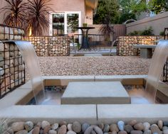 Gabion Walls - Water Fountain