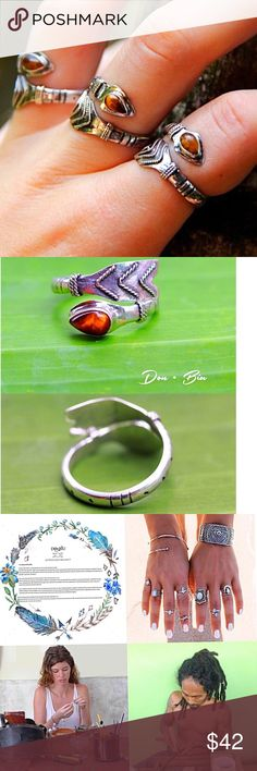 Coming soonTigers eye gemstone arrow ring Hand crafted by the silversmiths of DonBiu in Bali. Stamped 925. Expected by 10/12 DonBiu Jewelry Rings