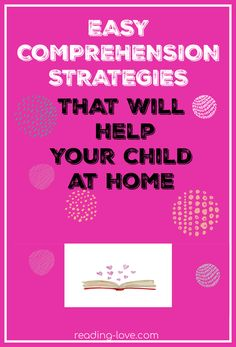 There are more than 15 easy comprehension strategies to help your child with reading comprehension. When a child can read words, but not remember or understand what they've just read, they need these strategies! #readingcomprehension #easycomprehensionstrategies #strategiesforreading #easy#readingproblems #comprehsnsion