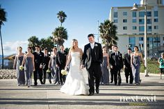 There is no better background than the beach. Shutters on the Beach wedding, Santa Monica.