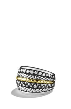 David Yurman 'Midnight Mélange' Ring with Diamonds available at #Nordstrom