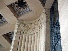 Buffalo City Hall Building. A 1931 Art Deco Jewel in Buffalo, New York, USA. John Wade, chief architect, with the assistance of George Dietel.  The friezes were sculpted by Albert Stewart and the sculpture executed by Rene Paul Chambellan.