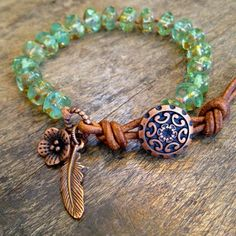 Indian Summer Knotted Leather Wrap Bracelet by TwoSilverSisters