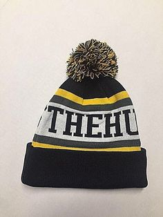 4620abc7f07 The Hundreds Beanie Hat - Yellow Grey Black - Adult One Size Fits All   fashion