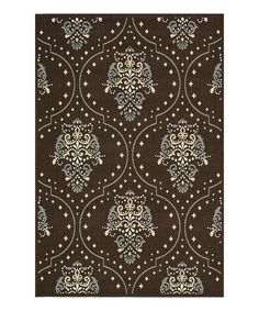 Take a look at this Brown & Blue Augusta Indoor/Outdoor Rug on zulily today!
