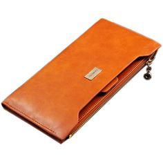 Women Zipper Multifunction Leather Long Wallet - Pulse Designer Fashion