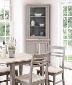 Florence Corner Display Cabinet Dresser Dove Grey Amazon