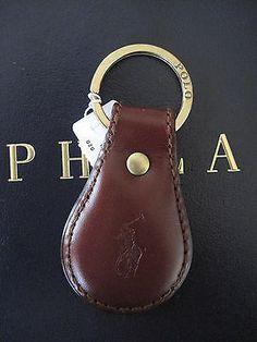 Polo Ralph Lauren Tan Saddle Leather Polo Pony FOB Key Chain Keychain NWT on shopstyle.com
