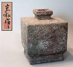 Large Contemporary Iga Shiho Vase by Akino Hirokazu