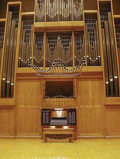 Wichita State University's Danish Marcussen & Søn Organ installed 1986 Wiedemann Hall     - photo by Bob Weeks, via Flickr