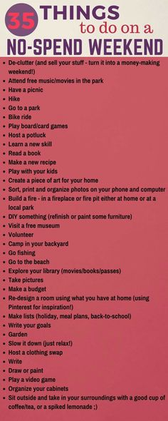 Having a no-spend weekend can save some serious money! Here are 35 things to do Having a no-spend weekend can save some serious money! Here are 35 things to do that don't cost a dime (plus a free printable). Money Tips, Money Saving Tips, Saving Money Quotes, Money Plan, Budget Planer, Money Matters, Money Management, Things To Know, Random Things To Do