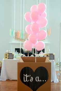 it's a... gender reveal balloon box sign by Lindstackett on Etsy