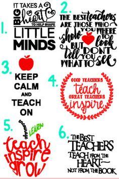 Teacher Quote Decals teacher gifts teacher by HandmadeDecalsbyHL