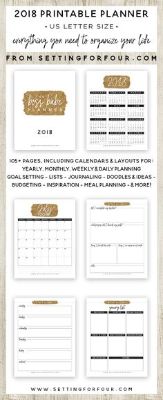 The Boss Babe Printable Planner Pack – 106 Pages to Plan & Organize Your Year!