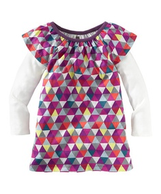 Take a look at this Vapor Mode Triangle Layered Dress - Infant & Girls by Tea Collection on #zulily today!