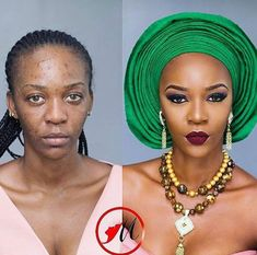 View pictures of before and afters featuring Nigerian makeup artists. Cut Crease Makeup, Contour Makeup, Flawless Makeup, Gorgeous Makeup, Beauty Makeup, Eye Makeup, Makeup Eyebrows, Makeup Geek, Beat Face Makeup