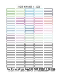 Free Printable Blank Write in Headers 2 of 2 for the Mini Happy Planner from myplannerenvy.com