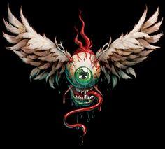 Hot Rod flying eyeball by on DeviantArt Rat Fink, Eyeball Images, Ed Roth Art, Arte Lowbrow, Rockabilly Art, Pinstripe Art, Garage Art, Arte Horror, Airbrush Art