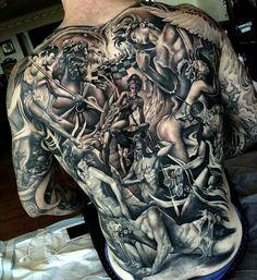 Tattoo Rücken Götter