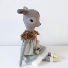 Little Kin Wild Thing handmade fox doll door LittleKinWildThing