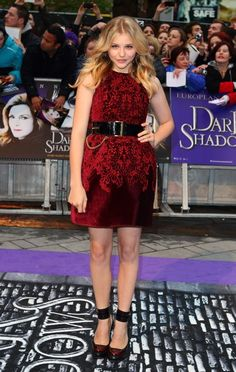 Moretz wore an appropriately gothic McQ by Alexander McQueen minidress and shoes to the premiere of Dark Shadows.