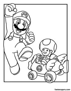 Printable Mario and Toad Coloring Page - Printable Coloring Pages For Kids