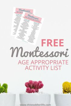 Montessori age-appropriate activity list for toddlers. Use this FREE Montessori age-appropriate list for Montessori toddlers today! Create your Montessori home for Montessori toddlers. is Montessori WHAT IS MONTESSORI & 5 EASY WAYS TO BEGIN What Is Montessori, Montessori Practical Life, Montessori Homeschool, Montessori Classroom, Montessori Toddler, Montessori Activities, Infant Activities, Montessori Theory, Toddler Preschool