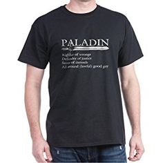 CafePress - Paladin T-Shirt - 100% Cotton T-Shirt, Crew Neck, Soft and Comfortable Classic Tee with Unique Design
