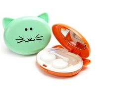 50pcs cute lovely contact lens cases cat shaped contact lens box set high quality contact lens container 011 on Aliexpress.com | Alibaba Group