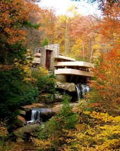 Falling waters by Andrew Lloyd Wright