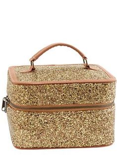 Glitter covered makeup case? i'm in love! @jcrew http://rstyle.me/~2TlHG